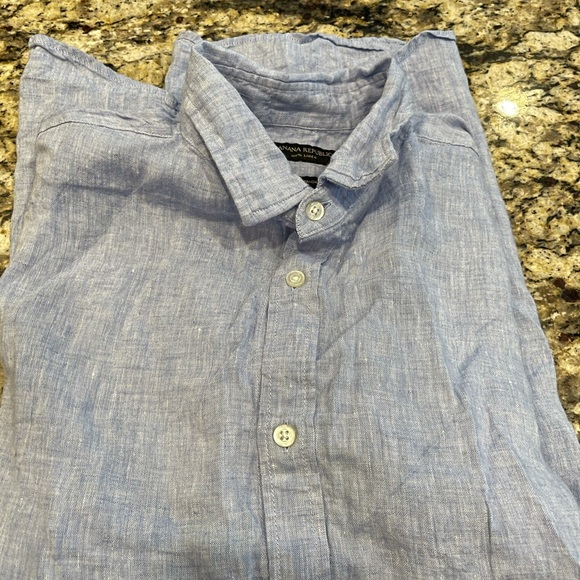 Men's banana republic linen short sleeve button